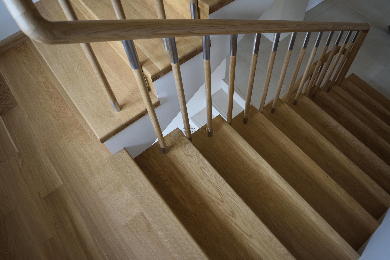 покрытие лестницы маслом