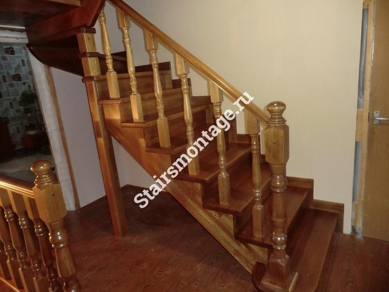 Как сделать лестницу на второй этаж с поворотом на 180