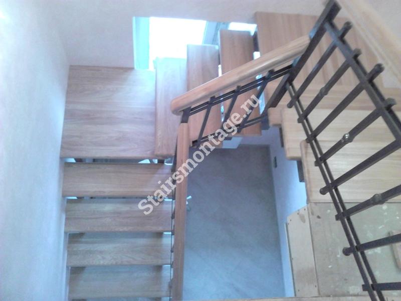 Лестница на металлокаркасе с площадкой своими руками
